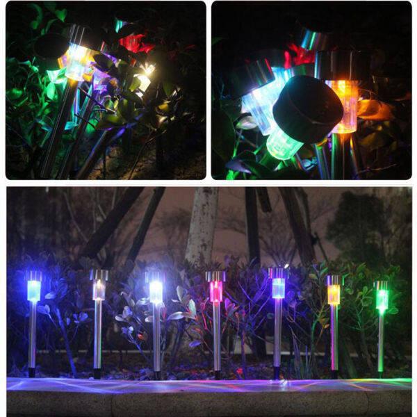 Bảng giá Coolmanloveit LED Năng Lượng Mặt Trời Ánh Sáng, Đèn Bãi Cỏ Inox, Lô Đèn Trang Trí Không Thấm Nước Trong Vườn