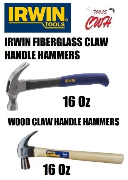 IRWIN CLAW HAMMERS 9098077 FIBERGLASS HANDLE AND 9098079 WOOD HANDLE