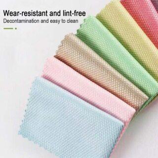 Giẻ Vảy Cá Vải Lau Kính Vi Sợi Khăn Lau Bát Đĩa Streak Vải Đa Năng Làm Sạch Thấm Hút Bền Tái Sử Dụng ( Màu Sắc Ngẫu Nhiên ) thumbnail