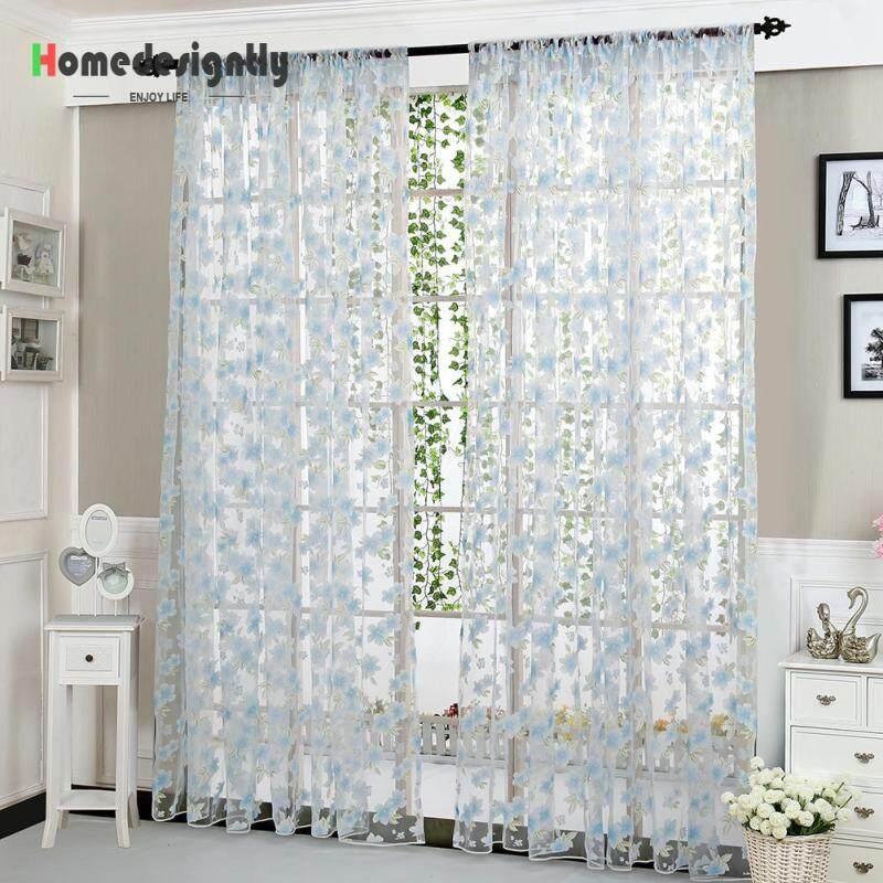 Rèm cửa sổ chống nắng, kích thước 2x0.95m, màu sắc tươi mát, dùng trang trí phòng khách phòng ngủ - INTL