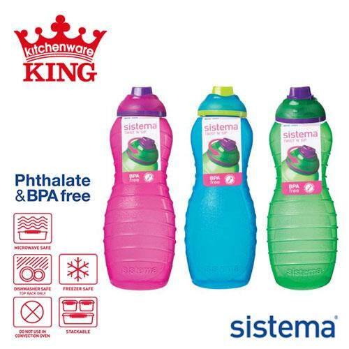 3ba20aaff Sistema Coloured Lunch Drink Bottles 700ml Davina
