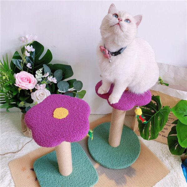 Mèo Chó Đầy Màu Sắc Hoa Tím Nhỏ Mèo Leo Khung Sisal Mèo Grabbing Ban LVYE Cổ Tích Cây Mèo Móng Vuốt Đồ Chơi Cảnh Quan Mài