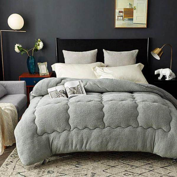 New faux cashmere warm duvet padded bedding