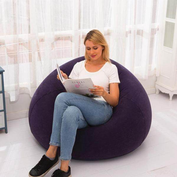 CZS Inflatable Bean Bag Sofa Chair Portable Comfortable Laziness Sofa Beanbag Outdoor Sofa Bed Thickened At The Bottom Inflatable Faster
