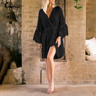 miễn phí vận chuyển Áo Kimono Ren Nữ Celmia, Ngủ Đồ Ngủ, Kaftan Bọc Ăn Mặc Áo Choàng Loungewear Áo Dài thumbnail
