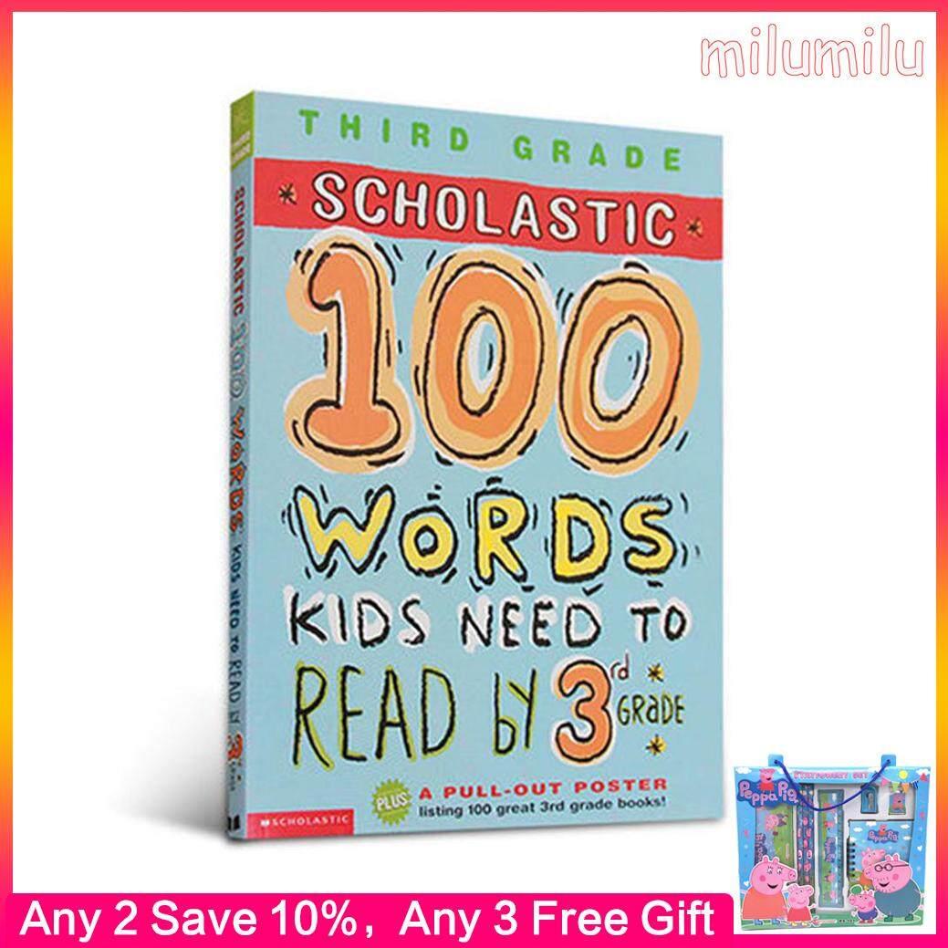 100 Words Reading Workbook Original English books Childrens education picture book Homework exercises