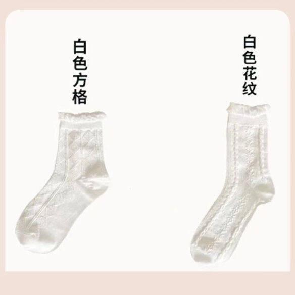 Tất Nữ SIV745 NANJIREN Trắng, Tất Nữ Thoáng Khí Ren Lolita Phong Cách Nhật Bản Dễ Thương Mùa Xuân Và Mùa Hè Ins Giữa Bắp Chân giá rẻ