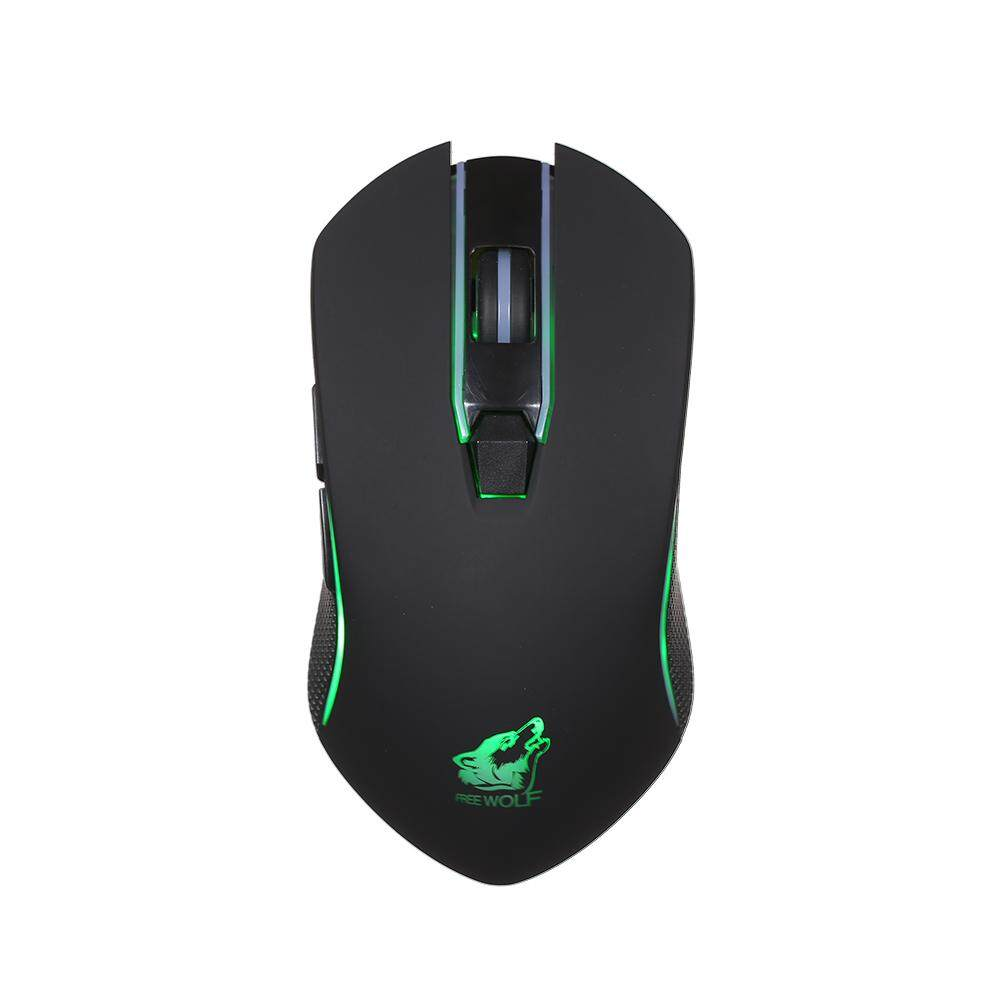 Free Wolf Wire less Gaming Mouse with 1600DPI Silent Gaming Mice of 3 Adjustable DPI and 2 Programmable Buttons 2.4G Wire less Transmission Malaysia