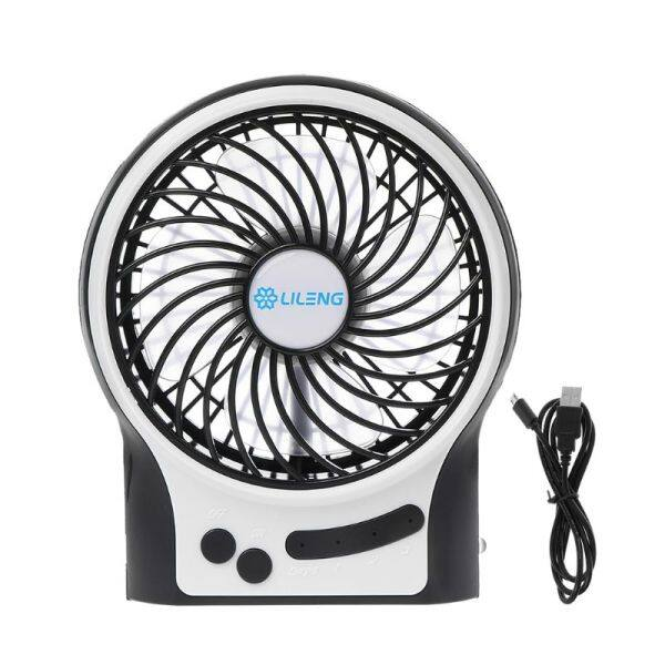 LILENG Rechargeable Portable Fan, Battery Operated or USB Powered Fan, Handheld Fan with Internal and Side LED Light, Personal Cooling for Traveling, Boating, Fishing, Camping
