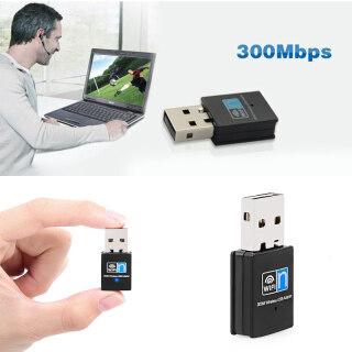 Bộ Chuyển Đổi Wifi USB Không Dây Mini 300Mbps, Dành Cho Máy Tính Để Bàn Máy Tính Xách Tay Windows 10 8 7 thumbnail