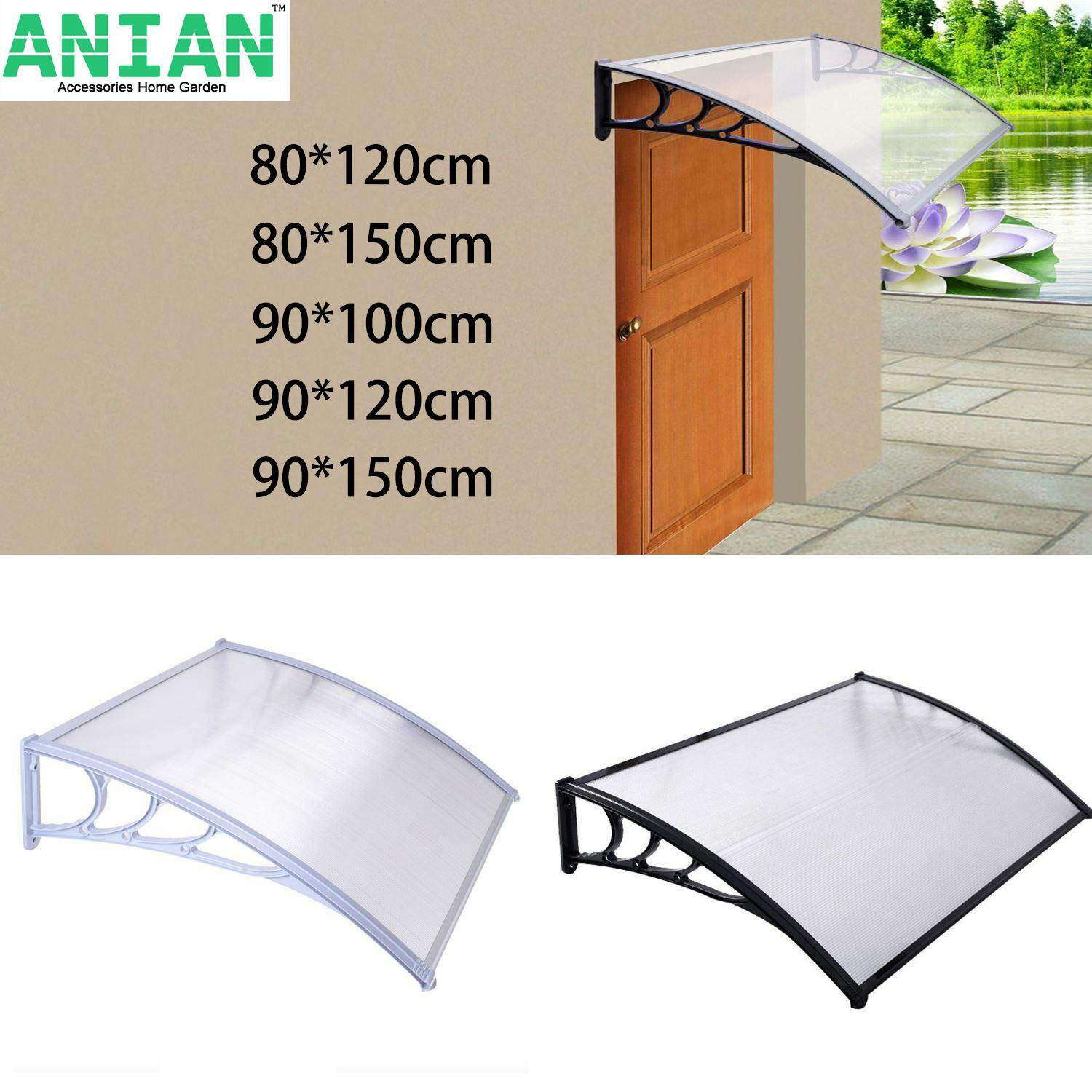 c3b1a5bb7e ANIAN New Door Canopy Awning Rain Shelter Front Back Porch Outdoor Shade  Patio Roof