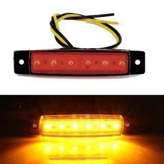 Đèn Hậu Xe Tải 6 LED Đèn Báo Bên Hông Chống Nước Màu Vàng Thay Thế thumbnail