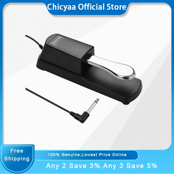 Piano Sustain Pedal Keyboard Damper Pedal 6.35mm Plug Compatible with Casio Yamaha Roland Electronic Organ MIDI Keyboards Digital Pianos Malaysia
