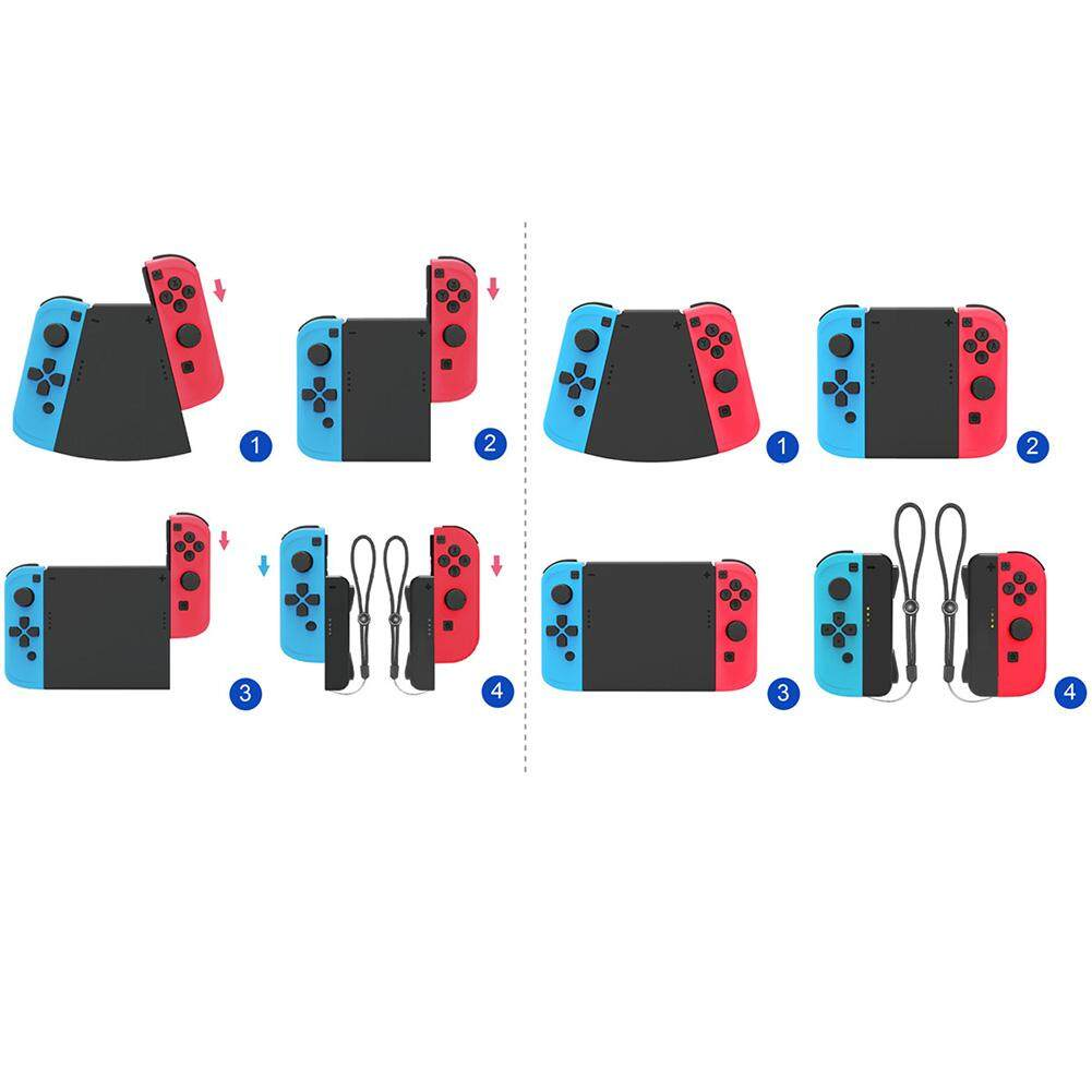 5-in-1 Connector Pack Left Right ABS Hand Grip Handle Holder Stand for Nintendo Switch NS Joy-Con Controller