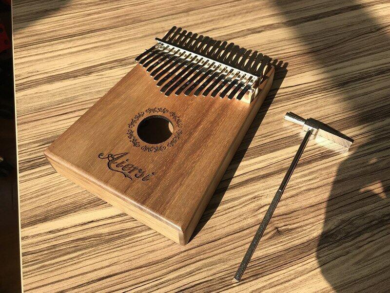 Trọn Bộ Aiersi Tắc Kè 17 Nhạc Cụ Kalimba Chính Piano Ngón Tay Cái Koa Rắn