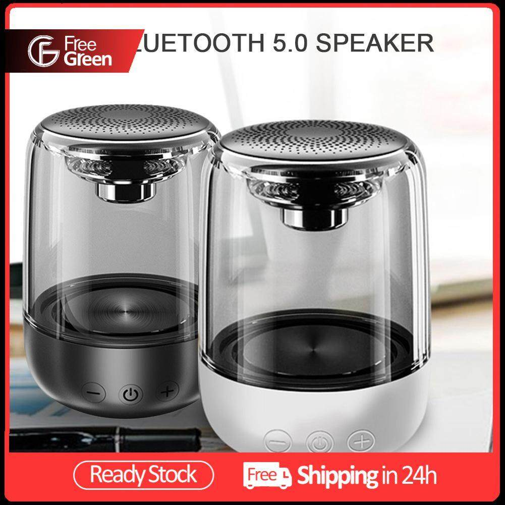 FreeGreen C7 Portable Bluetooth 5.0 Speaker Built-in Microphone Transparent LED Light Luminous Subwoofer TWS 6D Surround HIFI Stereo Cool Audio For Mobile Phone iPad Macbook Smart TV Malaysia