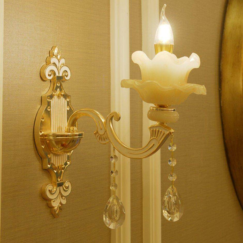 Best Sales European Crystal Wall Lamp Lotus - Single Head