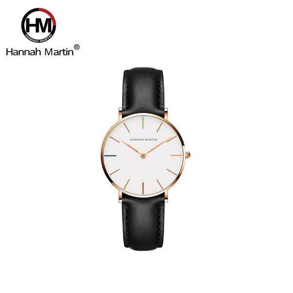 Hannah Martin Hue Black Womens Leather Quartz Watch Malaysia