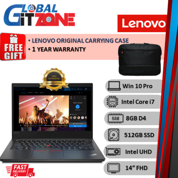Lenovo Thinkpad E14 20RAS02100 14 FHD Laptop ( i7-10510U, 8GB, 512GB SSD, Intel, W10P ) NoteBook E14-2100 Malaysia