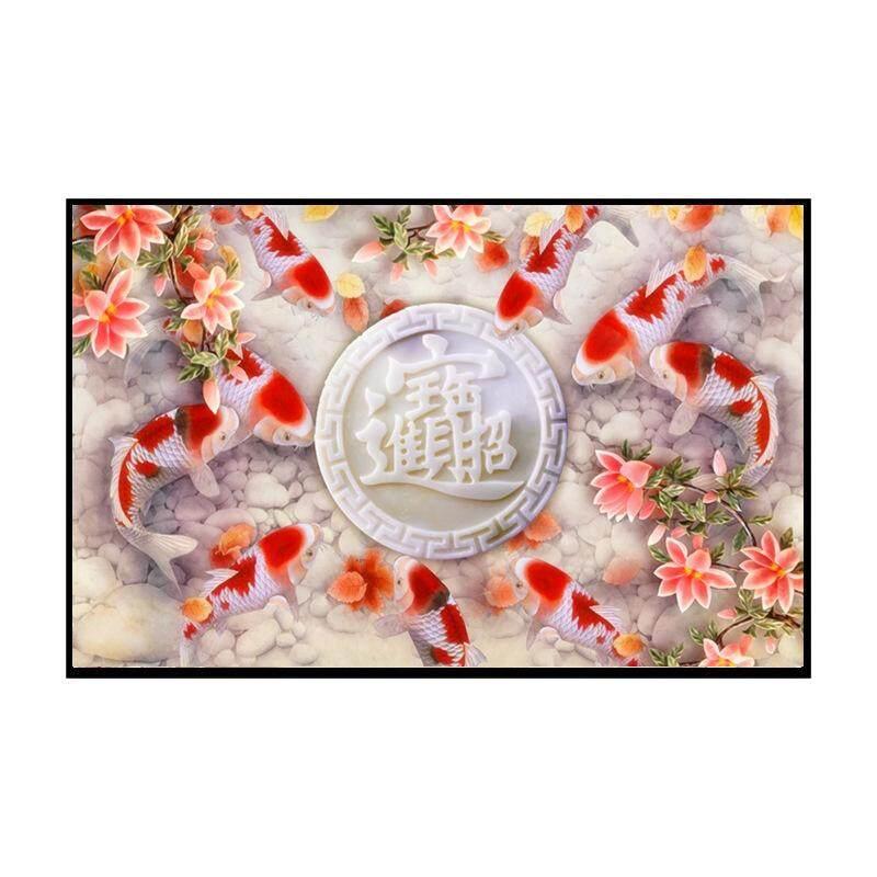 Koi Painting Diamond Painting Nine Fish Figure goldfish Blessing Fish DIY 5D Diamond Embroidery Mosaic