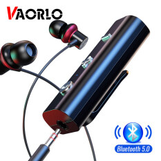 Vaorlo Bluetooth 5.0 Receiver 3.5 mét Aux Audio Music không dây adapter rảnh tay xe Kit transmitter cho loa tai nghe với mic gọi điện thoại rảnh tay