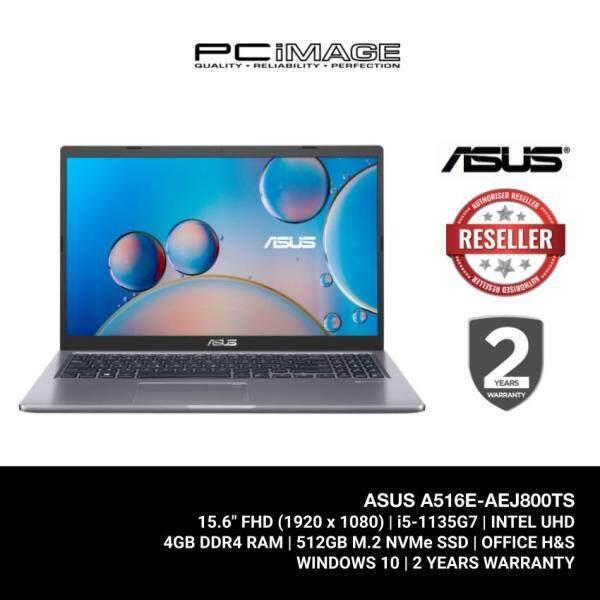 ASUS Laptop (A516E-AEJ800TS) i5-1135G7 / 4GB Ram / 512GB SSD / 15.6 FHD / MS Office / 2 Yrs Warranty - Grey Malaysia