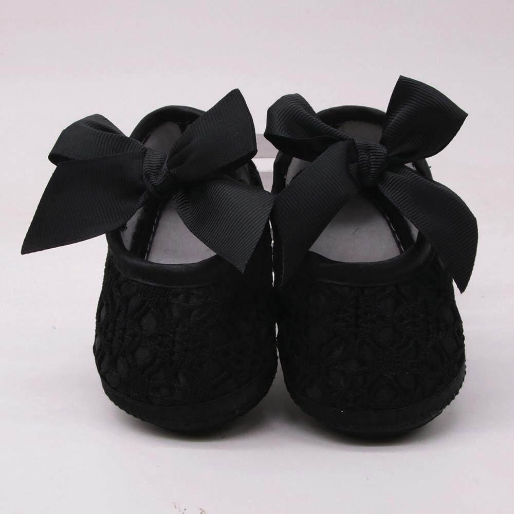 Bayi Perempuan Baru Lahir Alas Kaki Lembut Bersol Lembut Non-Slip Ikatan Simpul Sepatu Bayi Alas Kaki By Ju Zhuan Mall.