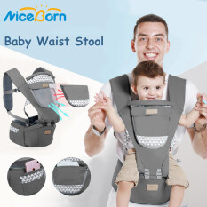 NiceBorn Baby Carrier Infant Waist Stool Baby Hip Seat Baby Sling Carrier Wrap Portable Infant Carrier Toddler Front Holder Wrap Belt Holder Breathable Ergonomic Kangaroo Hipseat for All Seasons