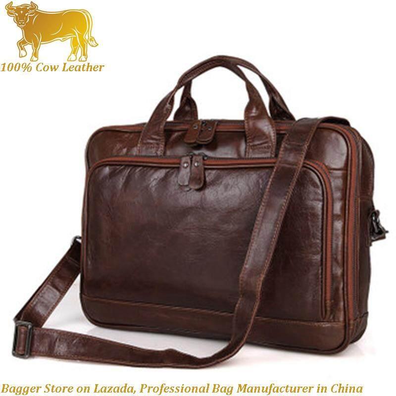 f2ca87129 New 100% Genuine Cow Leather Cowhide Fashion Men's Bag Business Computer  Portable Shoulder Messenger Bags