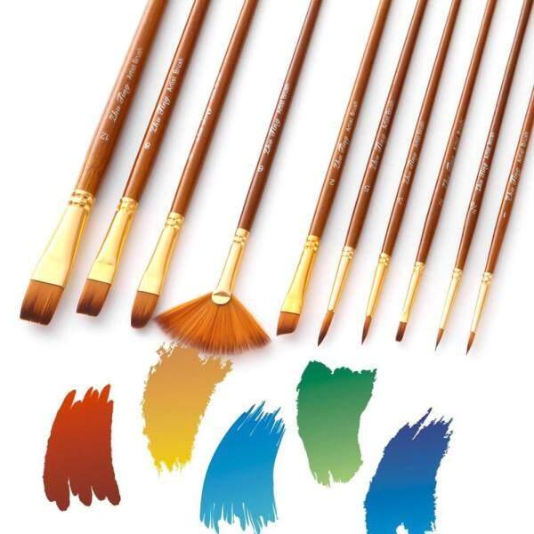Mua Bộ 10 Cái Cọ Sơn Cọ Vẽ Nghệ Sĩ Cọ Nhiều Phương Tiện Với Tóc Nylon Tranh Sơn Dầu Màu Nước Acrylic Màu Nước Cho Nghệ Sĩ Sản Phẩm Vẽ Nghệ Thuật Tuyệt Vời