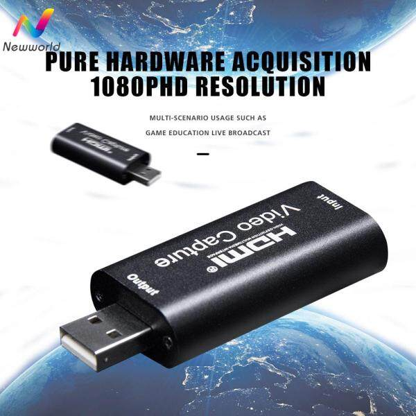 Newworldmall Video Capture Card Hdmi Video Grabber Capture Card Record Box Game Dvd Camcorder Hot Live Streaming CD
