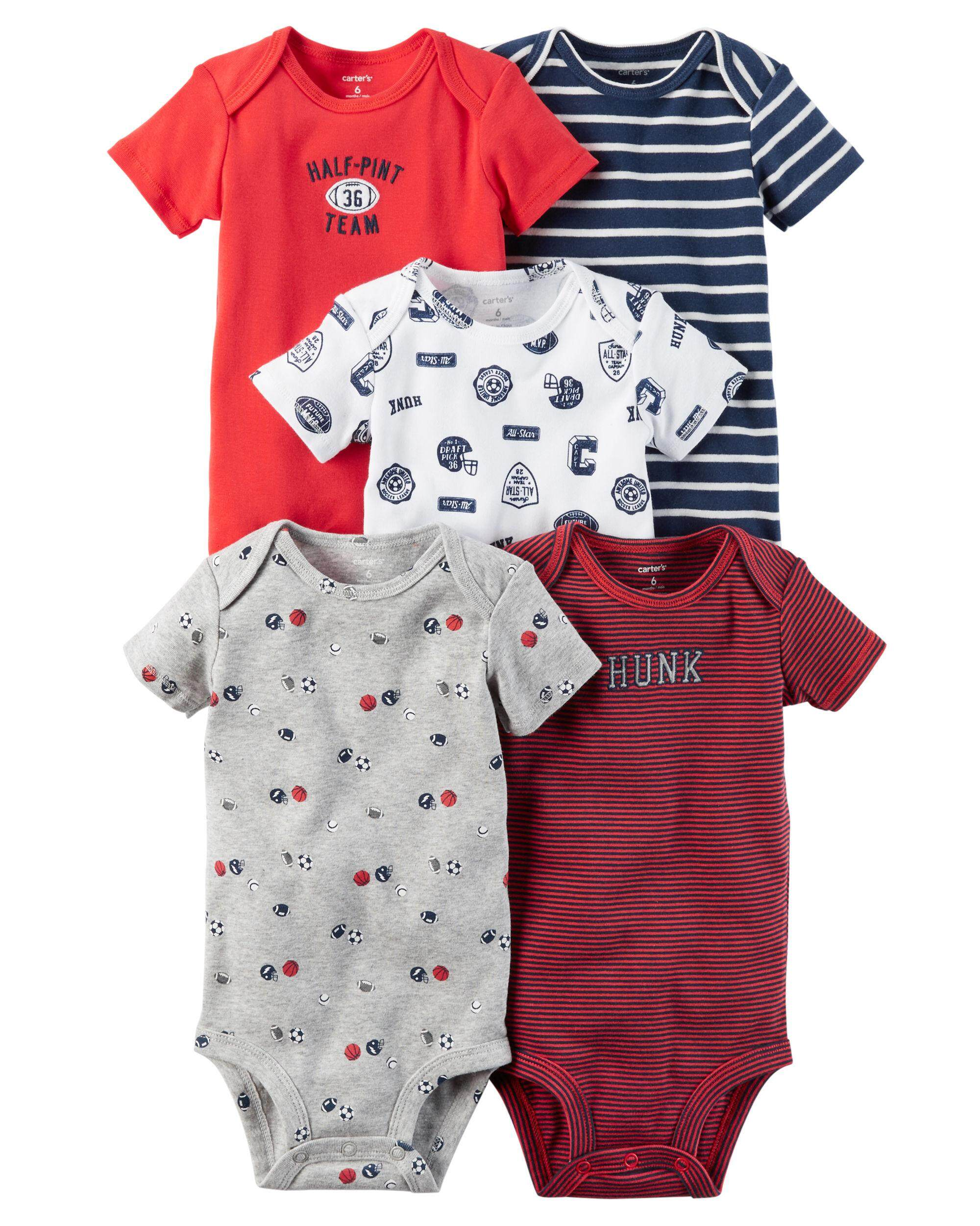 f56fa84f0 Carter's Baby Romper Random design Short sleeves rompers baju bayi (5 pcs  in 1 pack