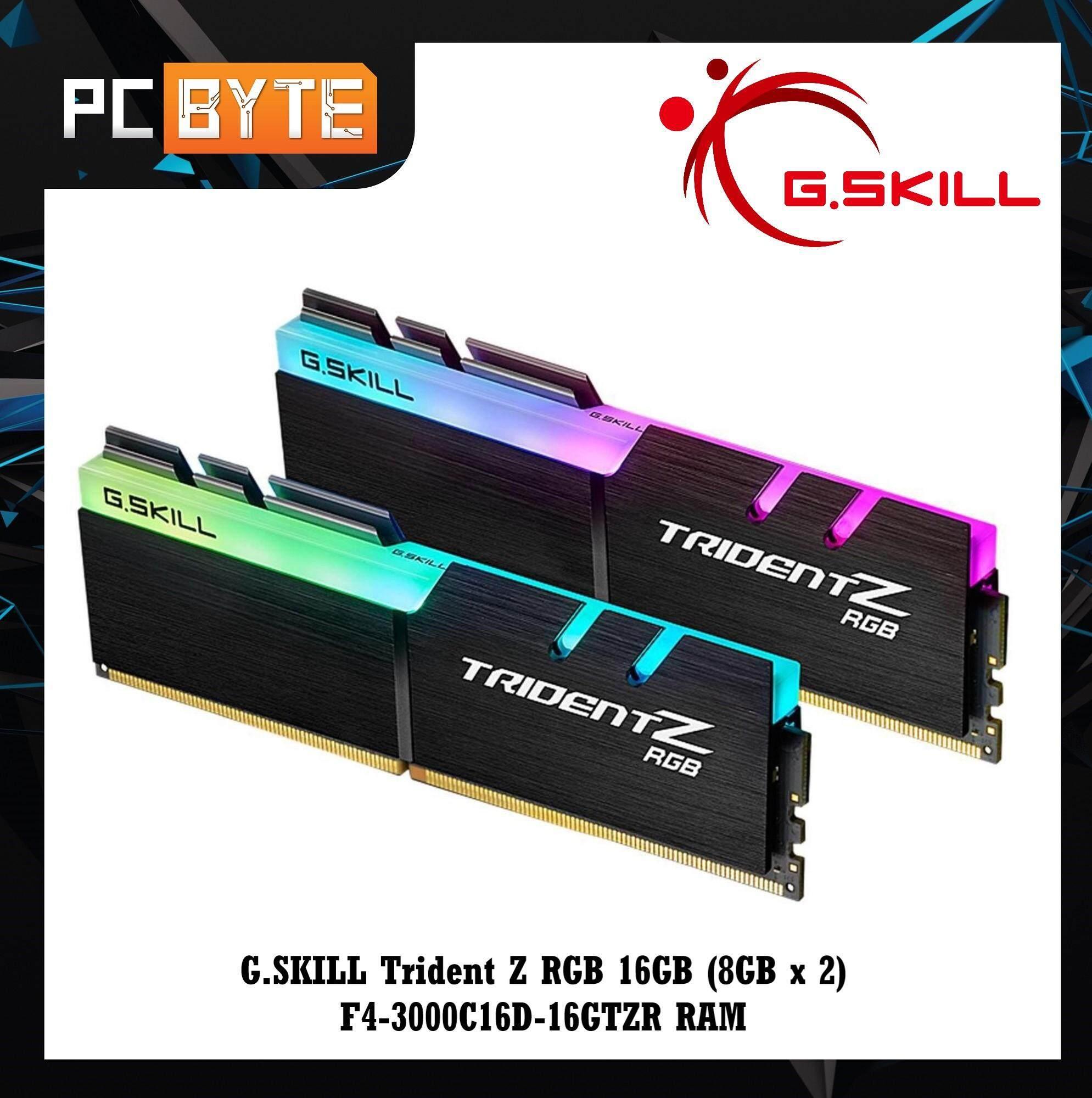 G SKILL Trident Z RGB 16GB (8GB x 2) F4-3000C16D-16GTZR RAM