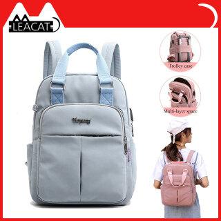 Ba lô máy tính xách tay nữ leacat màu hồng đàn ông sạc USB Ba lô nữ du lịch Ba lô túi đi học túi cho nam ba lô Tuổi Teen thumbnail