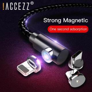 ACCEZZ Cáp Sạc Nhanh Từ Tính USB Loại C 5V 3A, Chất Liệu Nylon, Xoay 1M, Xoay 540 Độ, Dùng Cho iPhone Android, Sạc Nhanh 3 Trong 1 thumbnail