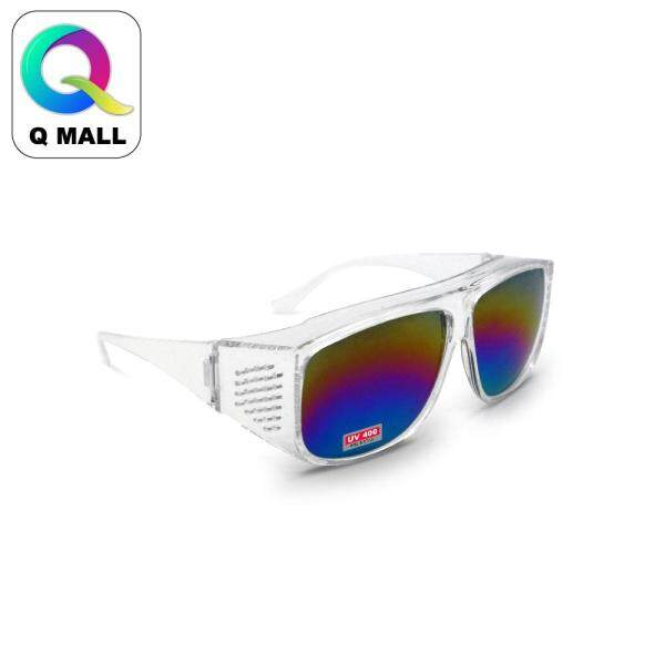 New Safety Eye Protection PPE Glasses Goggle Spec (881-1) Clear / (881-4) Rainbow