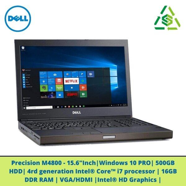 Dell Precision M4800 Mobile Workstation with Intel i7-4810MQ Quad Core CPU, 16GB DDR4 RAM, 1TB/500GB HDD, 15.6 inch Display - second hand Malaysia