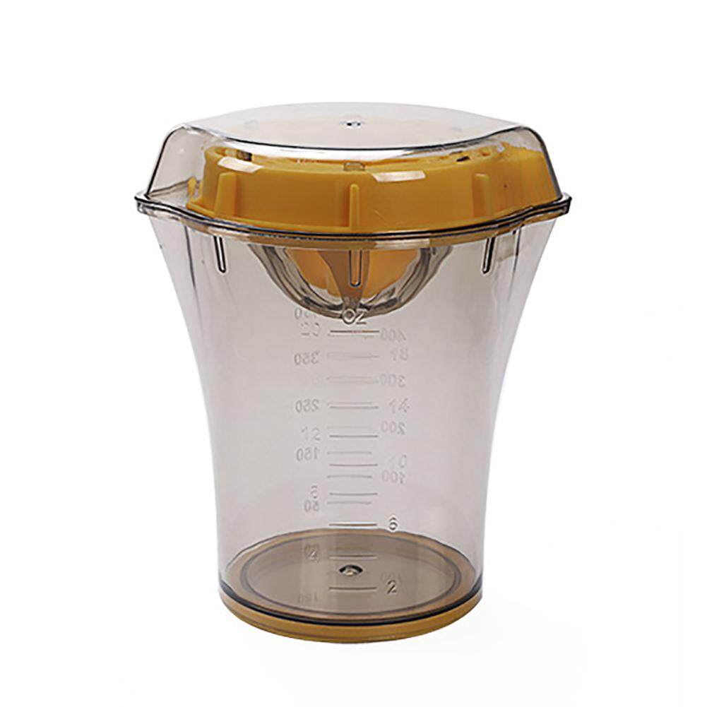 Portable Manual Lid Rotation Press Juicer with Strainer and Container