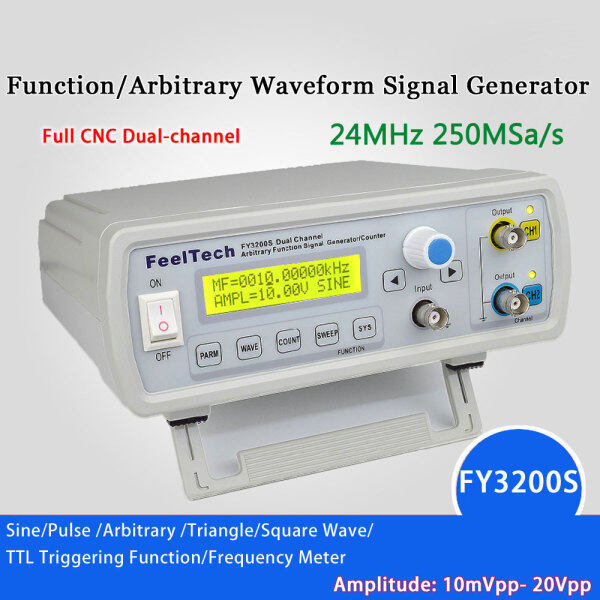 Digital DDS Function Signal Source Generator Arbitrary Waveform/Pulse Frequency Meter Dual-channel12Bit 250MSa/s Sine Wave 24MHz Malaysia