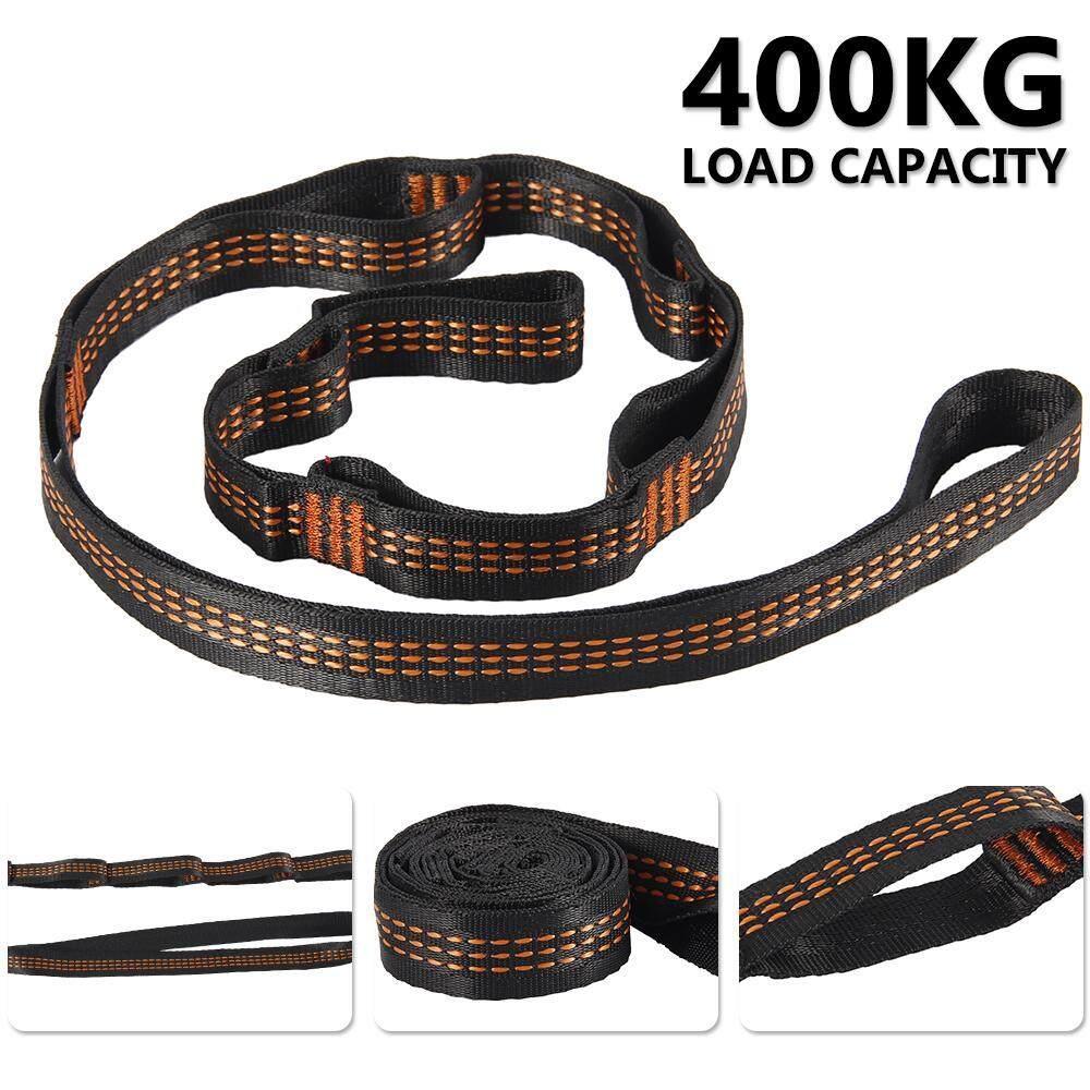 2pcs Tree Swing Straps Hanging 400kg with Storage Bag Camping Hammock Orange