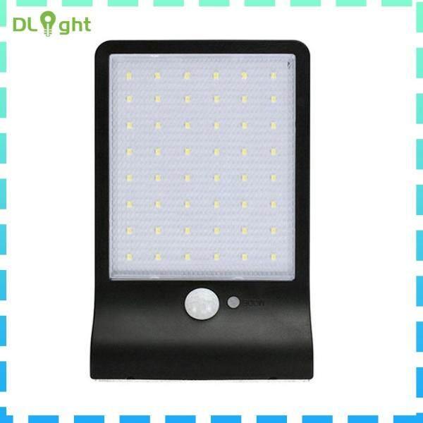 48 Đèn LED Năng Lượng Mặt Trời 3 Chế Độ Đèn Cảm Biến Chuyển Động IP65 Đèn Treo Tường Ngoài Trời Trong Vườn
