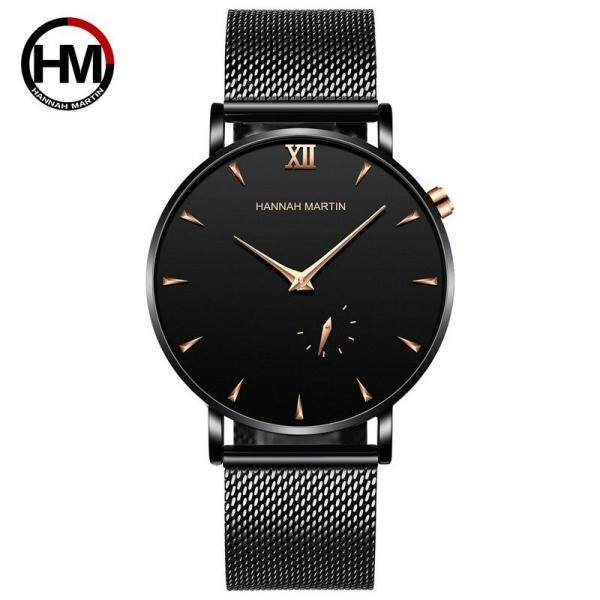 [RAYA SALE] [FAST SHIPPING][ LOCAL SELLER] 100% Original New Brand Quality Assure H&M HANNAH MARTIN Fashion Watch For MEN Business Causal Waterproof Watches Stainless Steel Starp JAPAN Movement Quartz Watches HM10201 Malaysia