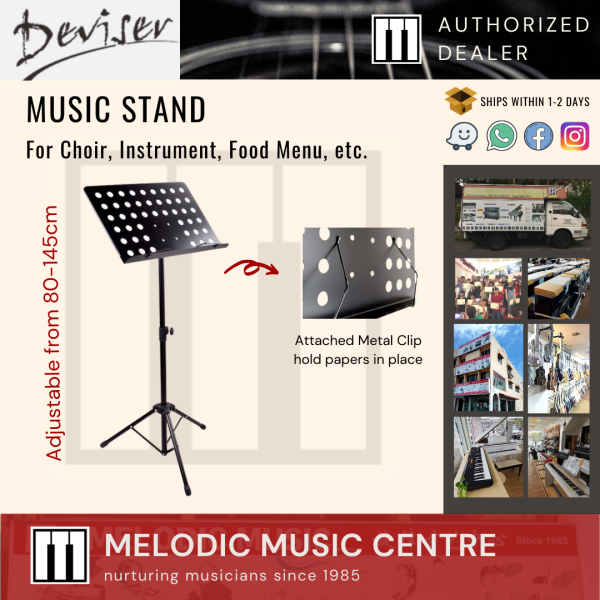 Deviser PF-A15 Heavy Duty Music Stand for Orchestra Choir Instrument Food Menu Al Quran Tablet (Conductor Stand) Malaysia