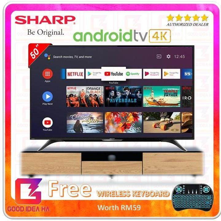 * FREE Wireless TouchPad * Sharp Aquos 50'' 4K UHD SMART Android TV New Model (4TC50AL1X) Better Then Old Model LC50UA6800x