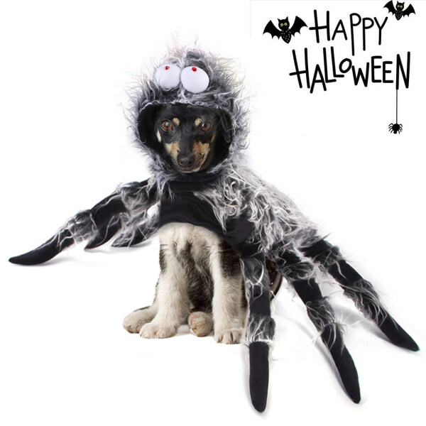 SEEGO Trang Phục Nhện Chó Halloween, Trang Phục Thú Cưng Vui Nhộn Trang Phục Araneid Mắt To Sáng Tạo