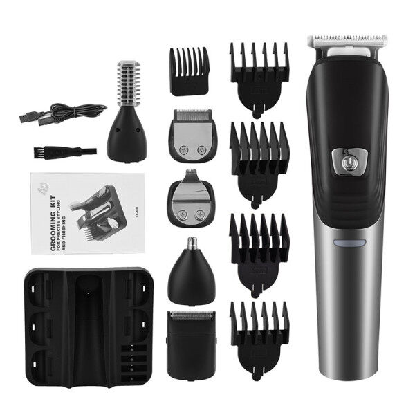 Buy CkeyiN 6 in 1 Men Hair Clipper Kit , Professional Nose Hair Trimmer Beard Shaver with 4 Limit Combs & 6 Replacement Heads, USB Rechargeable Singapore