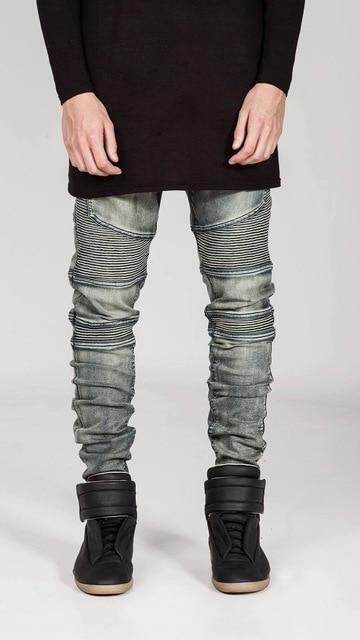 Mens dark blue distressed jogger style jeans in waist sizes 28 to 34 inches new