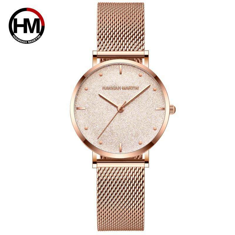 [FREE SHIPPING]100% Original New Brand Quality Assure H&M HANNAH MARTIN Fashion Watch For Women Business Causal Waterproof Watches Stainless Steel Starp JAPAN Movement Quartz Watches MS36 Malaysia