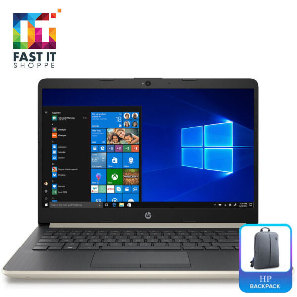 HP 14S-CF2002TX PALE GOLD ( I5-10210,4GB,512SSD,530 2GB,14 FHD,W10,2YRS ) Malaysia
