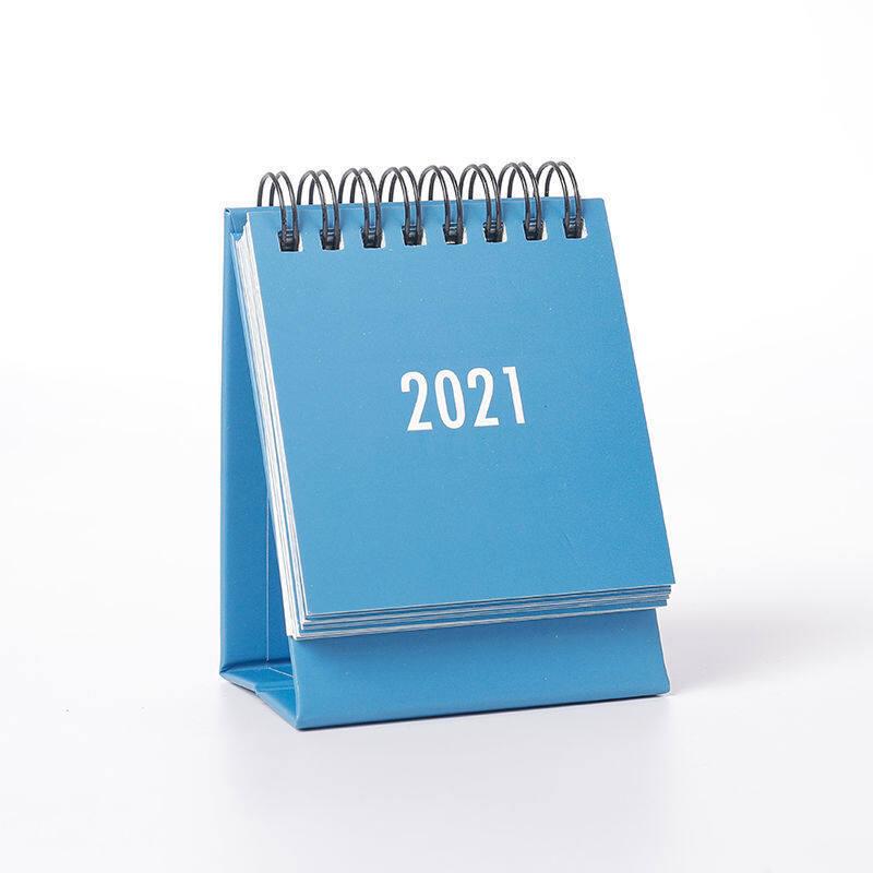 Bàn Mini Hoạt Hình Đơn Giản Màu Trơn Có Lịch 2021 Lịch Notepad Thời Gian Kế Hoạch Hàng Năm Chương Trình Nghị Sự Máy Tính Để Bàn Trang Trí